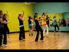 Becky's Zumba Class - 'Jai Ho!' i like a couple of the moves, especially the jumping part.