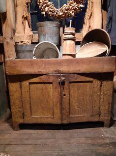Primitive Furniture, Home Furniture, Dry Sink, Prim Decor, Primitives, Sinks, Cabinets, Studios, Bedding
