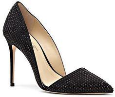 Studded Dorsay High Heel