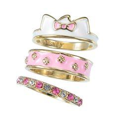 Marie 3 piece stacking ring set