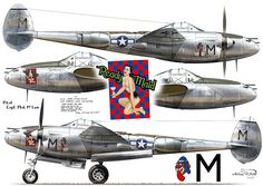 P-38L-5-LO, s/n 44-27132, 'Ready Maid', coded 'M', flown by Capt. Phil McLain of 36th FS / 8th FG, San Jose, Mindoro, the Philippines, spring 1945
