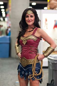 An awesome Wonder Woman #Cosplay