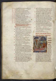 fol93 : Livre des Roisle Roi David en viel homme face à une sunamite venu le réchauffer. http://www.bn-limousin.fr/items/show/2913