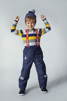 "Reima's ""Kiddo Lightning"" pants are waterproof winter pants for kids with reflecting details."