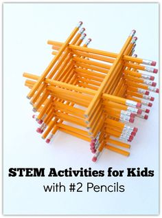 STEM Activities for Kids with #2 Pencils - There are so many engineering and math activities you can do with pencils.                                                                                                                                                     More