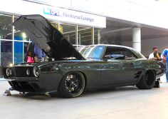 "Mary and Clayton Graham's 750HP 572ci ""T-Rex"" '69 Camaro, by G3 Rods, at the…"