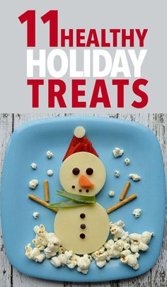 11 Healthy Holiday Treats - These cute holiday snack ideas are kid-friendly and nutritious. They're just as fun to make as they are to eat! // nutrition // food art // healthy snacks // lunches // winter // Christmas // school lunches // make your own snack // DIY // beachbody // beachbody blog