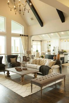 Relaxing Living Area by Shaddock Homes at Phillips Creek Ranch #ShaddockHomesTX #LivingRoom #Decor #Neutral