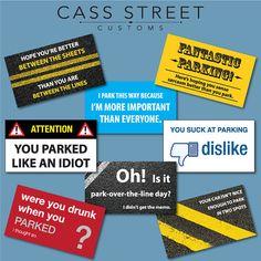Bad Parking Cards Set of 24 van CassStreetCustoms op Etsy