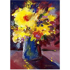 Trademark Art Yellow Splash Canvas Art by Sheila Golden, Size: 24 x 32, Multicolor