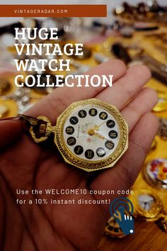Antiques Online, Vintage Pocket Watch, Timeless Beauty, Vintage Watches, Coupon Codes, Vintage Antiques, Bracelet Watch, Watches For Men, Jewelry Watches