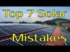 People make these 7 mistakes over and over again when they decide to buy their first solar panel system. In this video, we& discuss how to avoid these 7 de. Solar Energy Panels, Best Solar Panels, Home Solar Panels, Solar Roof Tiles, Solar Projects, Energy Projects, Solar House, Solar Panel Installation, Solar Charger