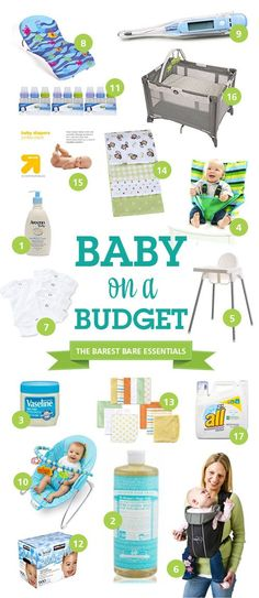 The bare necessities (also, what to ask for on your baby registry). | 23 Incredibly Helpful Diagrams For Moms-To-Be