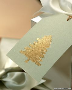 Embossed Gift Tags and Cards | Martha Stewart