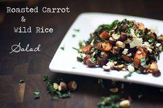 Roasted Carrot & Wild Rice Salad | Greens & Seeds