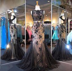 2017 Nero Due Pezzi Prom Dresses Backless Della