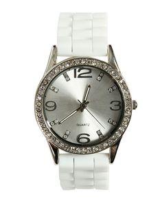 Rhinestone Rubber Watch from WetSeal.com ( $14.50)