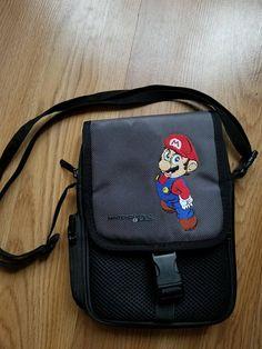 Original Black and Gray Nintendo Licensed Mario Universal Game Carrying Case Retro Game Systems, Black And Grey, Gray, Retro Video Games, Mario, Nintendo, The Originals, Classic, Bags