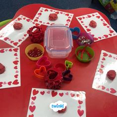 Valentine's Day Play Dough Activity.