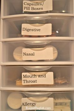 Great Idea for medicine organization. You can store it away and STILL be able to find exactly what you need!