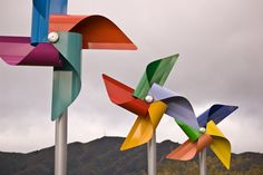 such a simple yet visually stunning idea... Dutch wind sculptures