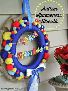 Autism Awareness Wreath  A Cause Close To My Heart