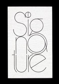 Signature logo by Herb Lubalin Study Center on Flickr. #corporate #design #corporatedesign #logo #identity #branding #marketing / #logo #design #graphic #branding #identity #brand #logotype #typography #creative