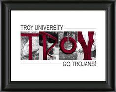 Troy University Trojans - Alphabet Photography Image