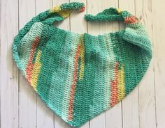 A personal favorite from my Etsy shop https://www.etsy.com/listing/529441165/summertime-bandana-scarf-crochet-scarf