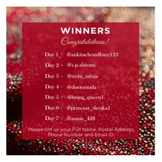 The much awaited Christmas Giveaway Winner Announcement is here! Congratulations and a Big Thankyou to everyone for participating and showing so much love!   #Gratitude #thankful #ChristmasGiveaway #SevendaysOfChristmas #Gifting #AllThatGlitters #Pouches #Trendy #Lovetobag #Clutches #bags #Potlis #Sleeves #Backpacks #love #sequins #Embroidered #chic #fashion #flat15percent #Sale #ShopNow #Bag #MadeInIndia #BagLove