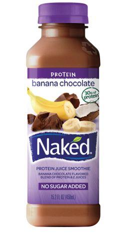 Naked Juice :: Banana Chocolate - 1 Banana 13 Cocoa Beans 87 White Grapes A Hint of Coconut Jamba Juice, Juice Smoothie, Smoothie Drinks, Smoothies, Kid Drinks, Beverages, Healthy Drinks, Healthy Recipes, Chocolate Protein