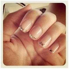 gold glitter tipped