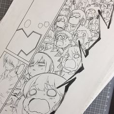 Sousei no Onmyouji Animation Sketches, Anime Drawings Sketches, Manga Art, Anime Art, Character Art, Character Design, Twin Star Exorcist, Manga Pages, Comic Page