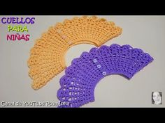 Cuellos en Crochet para niñas - YouTube Crochet Yoke, Crochet Bikini Pattern, Crochet Cardigan, Crochet Hats, Crochet Stitches Patterns, Stitch Patterns, Toddler Cardigan, Crochet Tablecloth, Crochet Videos