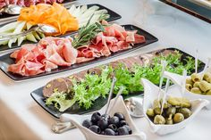 Catering Banquet Table Stock Photo (Edit Now) 521386063 Banquet Tables, Party Buffet, Party Drinks, Chutney, Deli, Food Art, Cobb Salad, Tapas, Catering