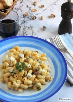 Amorelli con salsa de calabaza, pistachos y queso azul. Receta de pasta