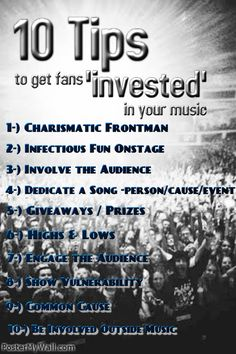 """How to get fans """"invested"""" in what you're doing"""