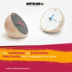 Funky Table #Clocks for a unique look ! Get them here: http://www.northlandindia.com/category/wall-clocks/169   #Gifts #homedecor #Design