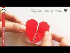 Corazón de papel y cajita ♥ para guardar mensajes bonitos ♥ - YouTube