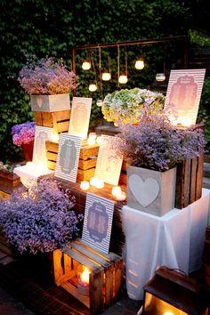 Seating Plan para Bodas                                                                                                                                                                                 Más Wedding Vintage, Vintage Party, Chic Wedding, Wedding Events, Rustic Wedding, Trendy Wedding, Wedding Ceremony, Woodland Wedding, Wedding Sitting Plan
