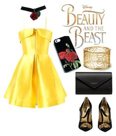 """""""Beauty and the Beast"""" by adln99 on Polyvore featuring Disney, Alex Perry, Dolce&Gabbana and Balenciaga"""