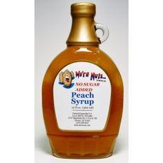 Sugar Free Peach Syrup - 12oz.