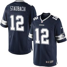 16a8d17d7 Nike Limited Roger Staubach Navy Blue Men s Jersey - Dallas Cowboys  12 NFL  Home Tony
