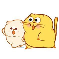 Time for dinner Happy Cat Gif, Happy Kitty, Cute Kawaii Animals, Kawaii Cat, Cute Love Gif, Cute Cat Gif, Cartoon Gifs, Cute Cartoon, Cute Fat Cats