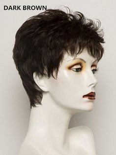 Tab | Synthetic Wig (Mono Crown) – franzb Short Wigs, Short Pixie, Synthetic Lace Front Wigs, Synthetic Wigs, Natural Hair Growth, Natural Hair Styles, Blonde Roots, Sandy Blonde, Thing 1