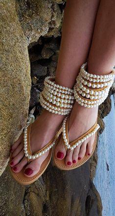 https://www.etsy.com/listing/579796437/dhl-free-gladiators-greek #pearls #fashionsandals #strappy #wedding #bridal #bohofashion #greeksandals #gladiatorsandals