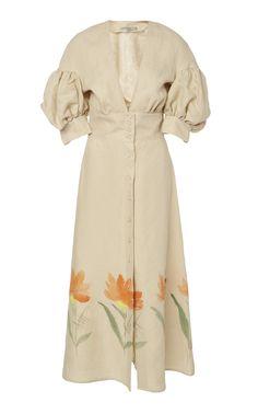 Get inspired and discover Silvia Tcherassi trunkshow! Shop the latest Silvia Tcherassi collection at Moda Operandi. Silk Floral Dress, Silk Midi Dress, Denim Shirt Dress, Cotton Dresses, Dress To Impress, Designer Dresses, Beautiful Dresses, Fashion Dresses, Fashion Looks