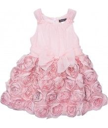 Edged Roses Chiffon Dress  Borrow Mini Couture.com resource for designer rentals for Flower Girls and Ring Bearers