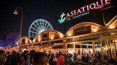 Asiatique night market in Bangkok. Near the river  http://www.bangkokhotguide.com