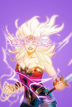 Your number Wonder Woman source. Wonder Woman Art, Wonder Woman Comic, Superman Wonder Woman, Comic Book Girl, Comic Books Art, Comic Art, Marvel Comics, Arte Dc Comics, Comic Character
